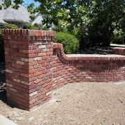 Flashed-Brick-entry-wall