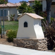 Stone-and-Stucco-Mailbox